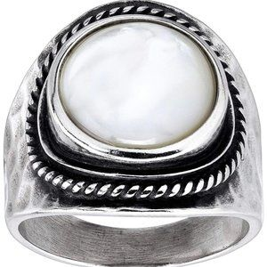 SILPADA BOLD NATURAL MOTHER OF PEARL RING